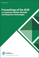 Proceedings of the ACM on Interactive, Mobile, Wearable and Ubiquitous Technologies